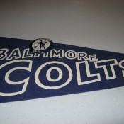 1967 Baltimore Colts Football Felt Pennant & Button