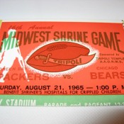 1965 Packers Bears Shrine Game Full Ticket