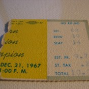 NFL Champioship Game Ice Bowl Ticket Stub