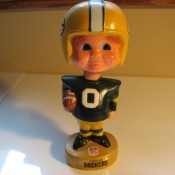 1970s Green Bay Packers Bobble Head Souvenir Doll