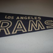 1960s Los Angeles Rams Football Felt Pennant