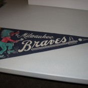 1950s Milwaukee Braves Baseball Felt Pennant