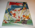Green Bay Packers Philadelphia Eagles Program 10-30-1954