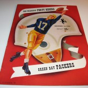 Green Bay Packers San Francisco 49ers Program 12-14-1952