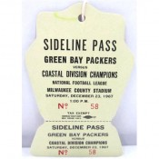 1967 Packers vs. Rams Playoffs Full Press Pass