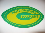 1968 Packers World Champions Two Sided Decal With Schedule