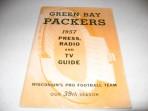Scarce 1957 Green Bay Packers Press Radio & TV Guide