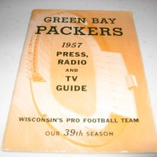 Scarce 1957 Green Bay Packers Press Radio & TV Guide