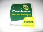 Scarce 1954 Green Bay Packers Press & Radio Guide