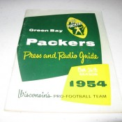 Scarce 1954 Green Bay Packers Press & Radio Guide