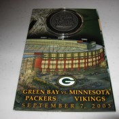 2003 Lambeau Field Re-Dedication Collector Coin