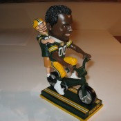Green Bay Packers Training Camp Bicycle Rider Bobblehead Doll (Black Player)