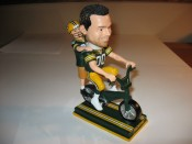 Green Bay Packers Training Camp Bicycle Rider Bobblehead Doll (White Player)