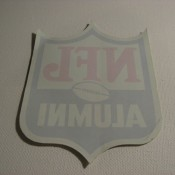 "Vintage NFL Shield ""Alumni"" Sticker Decal Unused"