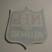 """Vintage NFL Shield """"Alumni"""" Sticker Decal Unused"""