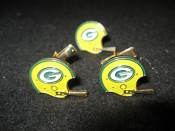 Green Bay Packers Helmet Cuff Links & Tie Tac Circa 1970