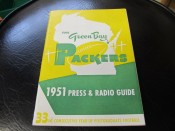 1951 Green Bay Packers Press And Radio Guide