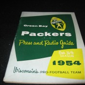 1954 Green Bay Packers Press & Radio Guide