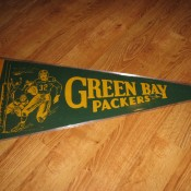1950s Green Bay Packers Green & Gold Felt Pennant