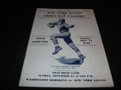 1940 New York Giants Green Bay Packers Game Program November 17