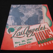1947 Los Angeles Rams Green Bay Packers Game Program