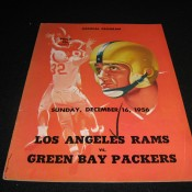 1956 Los Angeles Rams Green Bay Packers Game Program