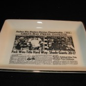 Green Bay Press Gazette Sports Page Pottery Tray 1961