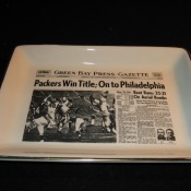 Green Bay Press Gazette Sports Page Pottery Tray 1960