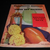 1954 Washington Redskins Green Bay Packers Game Program
