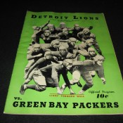 1937 Detroit Lions Green Bay Packers Game Program