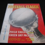 1945 Philadelphia Eagles Green Bay Packers Game Program