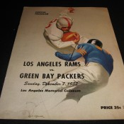 1952 Los Angeles Rams Green Bay Packers Game Program