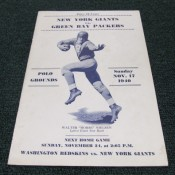 1940 New York Giants Green Bay Packers Game Program