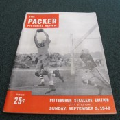 1948 Green Bay Packers Pittsburgh Steelers Program