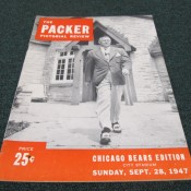 1947 Green Bay Packers Chicago Bears Game Program