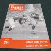 1947 Green Bay Packers Detroit Lions Game Program