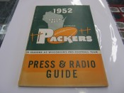 1952 Green Bay Packers Press & Radio Media Guide