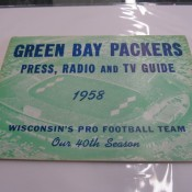 1958 Green Bay Packers Press Radio & TV Media Guide