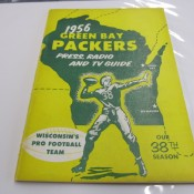 1956 Green Bay Packers Press Radio TV Media Guide