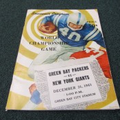 Green Bay Packers New York Giants 1961 World Championship Program