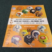 1965 Green Bay Packers Baltimore Colts Conference Playoff Program