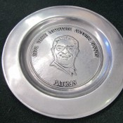 Scarce 1974 Vince Lombardi Awards Dinner Pewter Patron's Large Plate