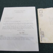 1952 National Football League Letter With Bert Bell Autograph