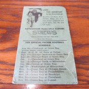 1939 Green Bay Packers Stiefel's Men's Wear Suit Coat Pocket Wallet Schedule