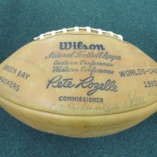 1965 Green Bay Packers Facsimile Team Autographed Football