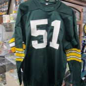 Early 1970s Green Bay Packers Game Jersey Sand Knit Durene Larry Hefner