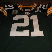 Green Bay Packers Super Bowl 45 Charles Woodson Game Ready Autographed Jersey