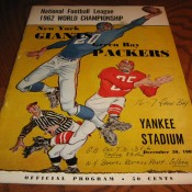 1962 NFL Championship Game Program Packers Giants