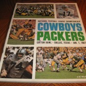 1966 NFL Championship Game Program Packers Cowboys