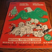 1960 NFL Championship Game Program Packers Eagles